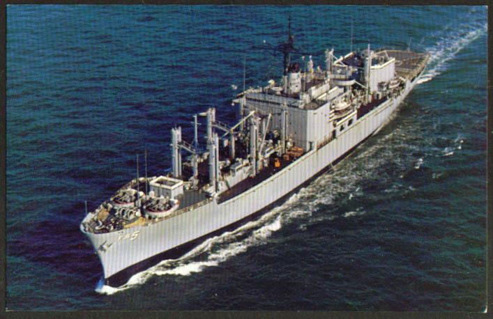 U S S Concord Combat Store Ship AFS-5 postcard