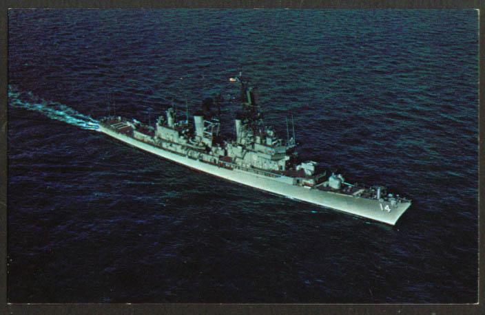 U S S Dewey Guided Missile Frigate DLG-14 postcard