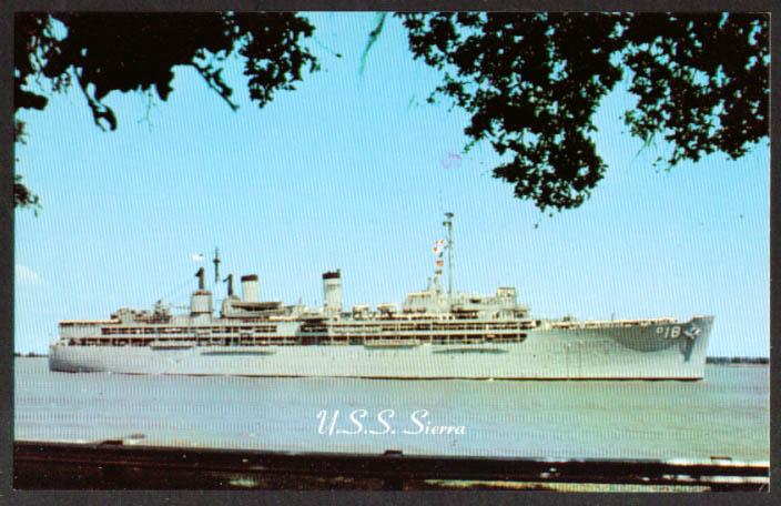 U S S Sierra Destroyer Tender AD-18 postcard