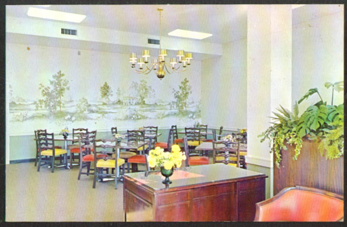 Plymouth Place Infirmary Dining Room 315 N La Grange Park Rd IL postcard 1960s