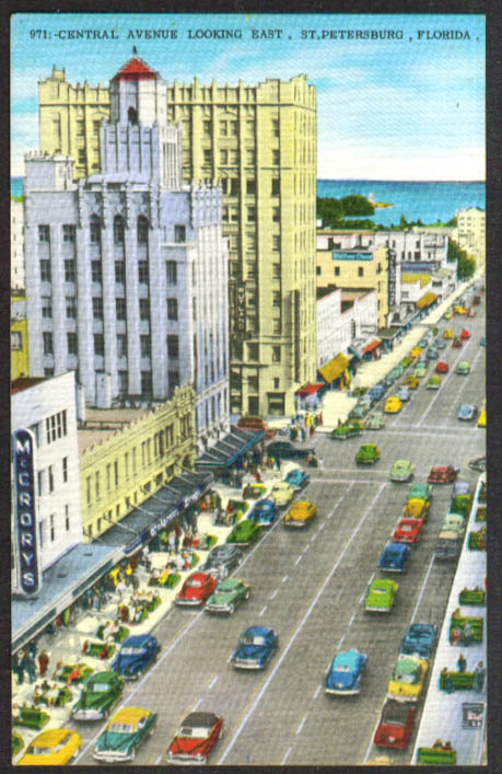 McCrory's Wilson Chase Central Ave St Pete postcard 1950s