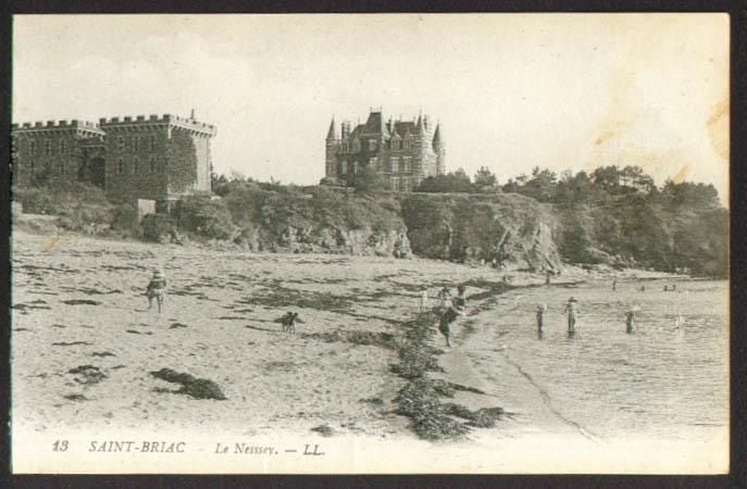 Le Nessey et plage Saint-Briac France postcard 1910s