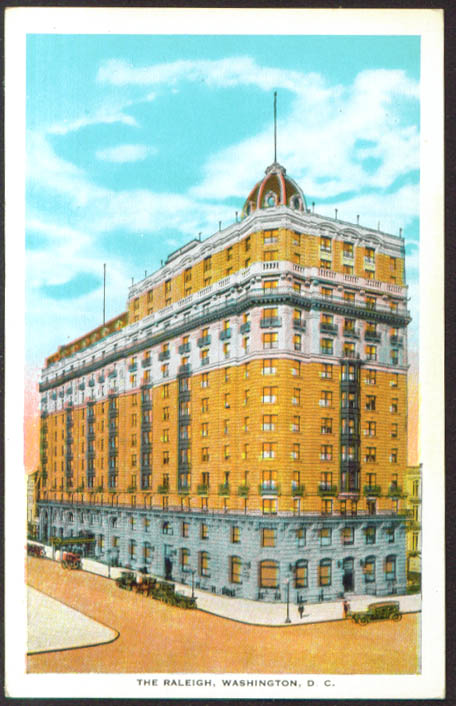 The Raleigh Hotel Washington DC postcard 1920s