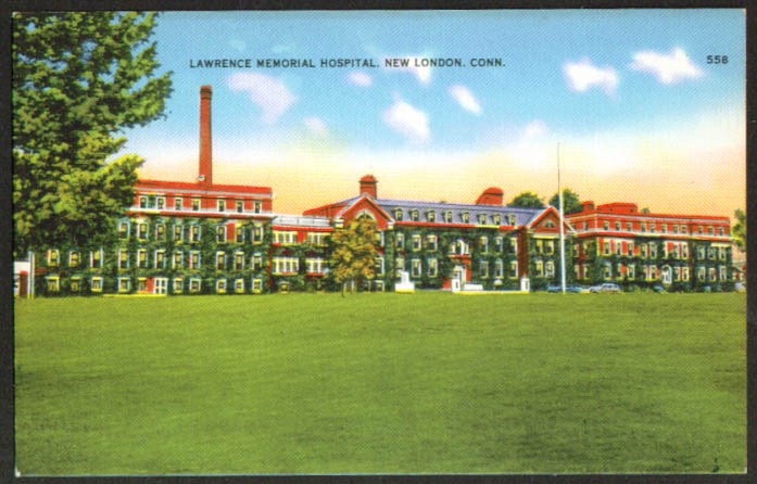 Lawrence Memorial Hospital New London CT postcard 1930s