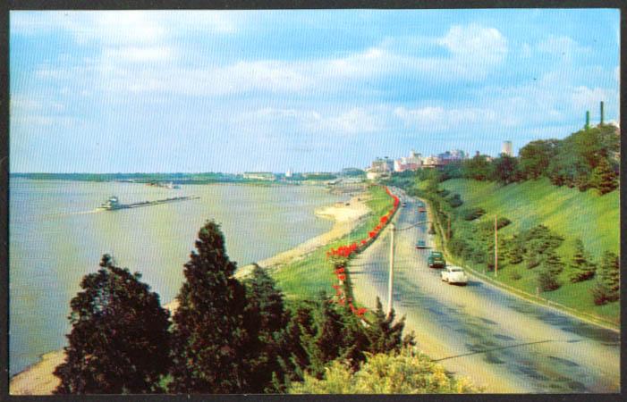Riverside Drive Memphis TN postcard 1957