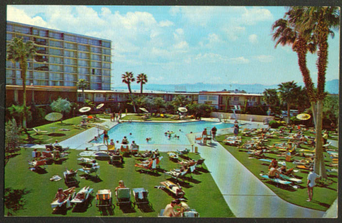 Pool at Stardust Hotel Las Vegas NV postcard 1960s