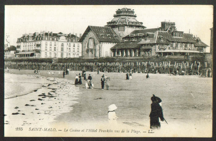 Casino Hotel Franklin Saint-Malo France postcard 1910s