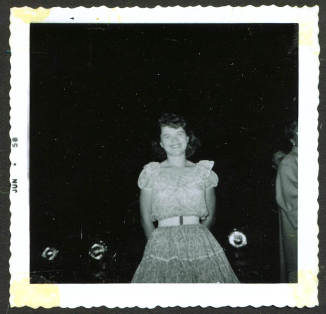 Dorothy Ann Ferguson fan club backstage pic 1958