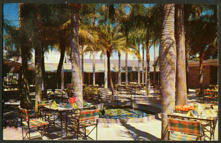 Palm Gardens Indian Rocks Rd Largo FL postcard 1955