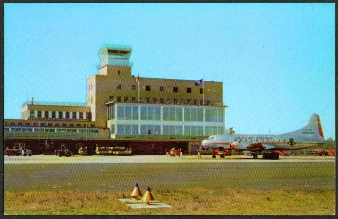 American Convair Murphy Terminal Bradley Field Windsor Locks CT postcard 1950s