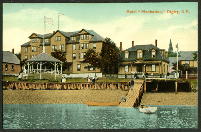 The Hotel Manhattan at Digby Nova Scotia Canada postcard 1910s