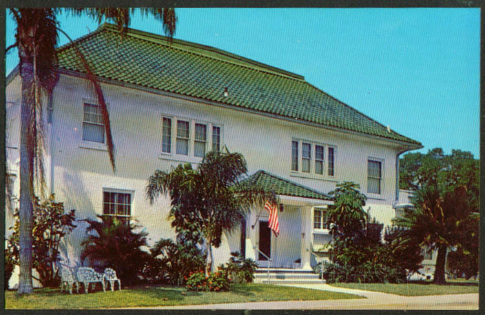 Bradenton Womans Club Bradenton FL postcard 1960s