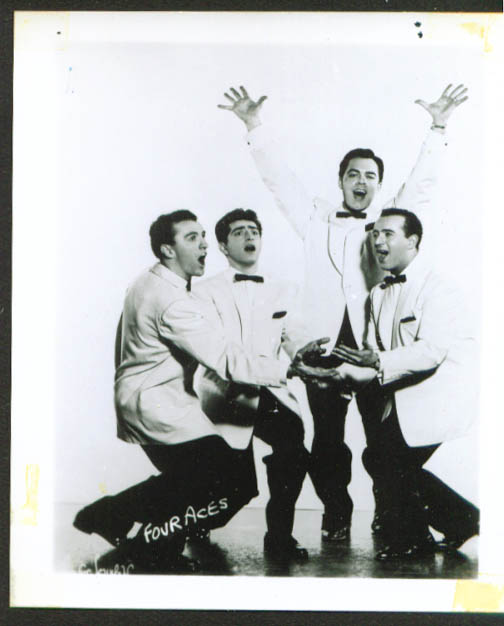Pop Singing Group The Four Aces Fan Club Photo 1950s