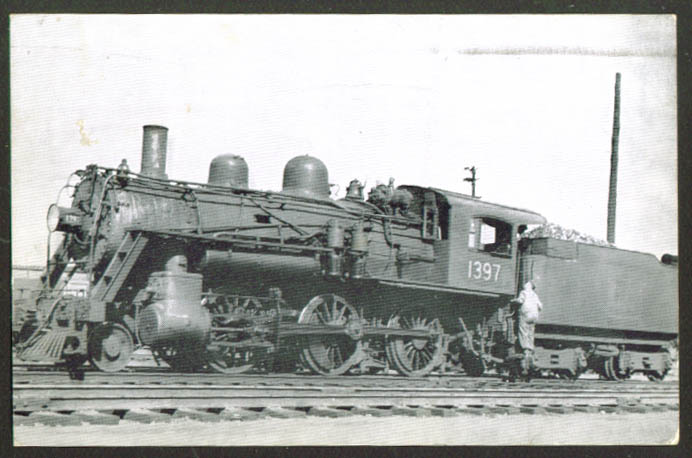 Boston & Maine 1397 2-6-0 B-15B Boston postcard 1939