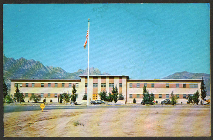 Administration Building White Sands Proving Grounds NM postcard 1950s