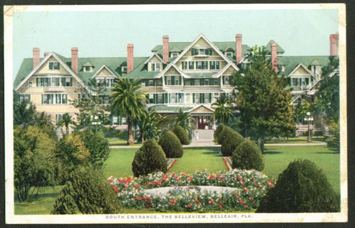 South Entrance The Belleview Belleair FL postcard 1910s