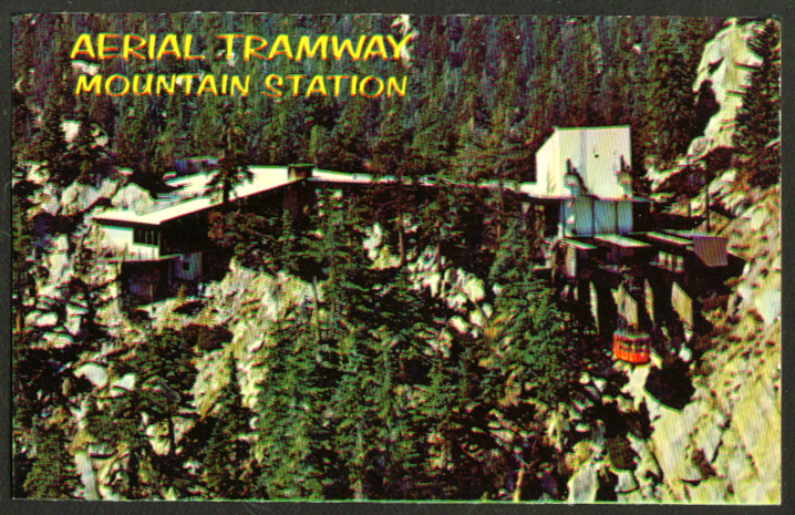 Palm Springs Aerial Tramway Station CA postcard 1950s