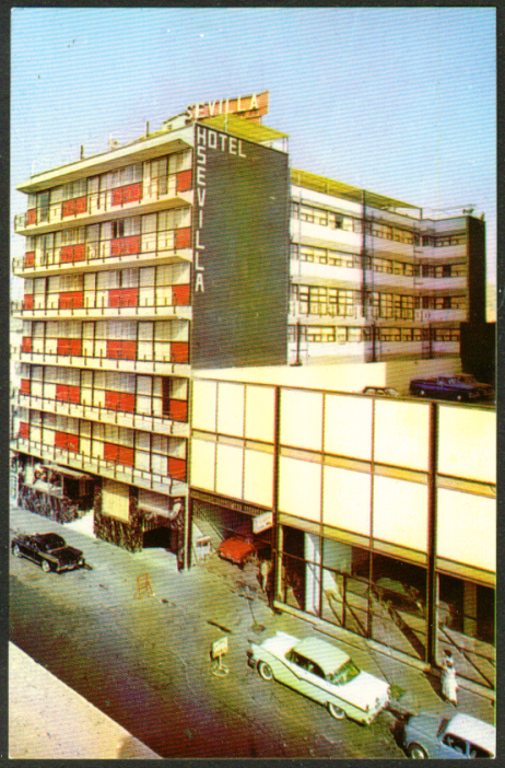 Hotel Sevilla Mexico City MX postcard 1950s
