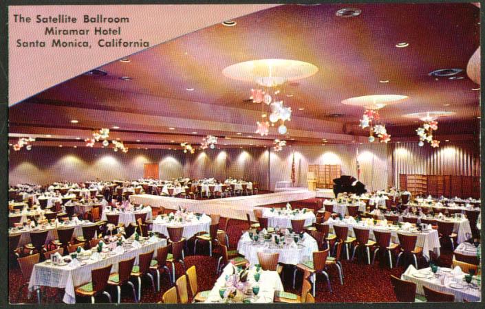 Miramar Satellite Ballroom Santa Monica CA postcard 1950s