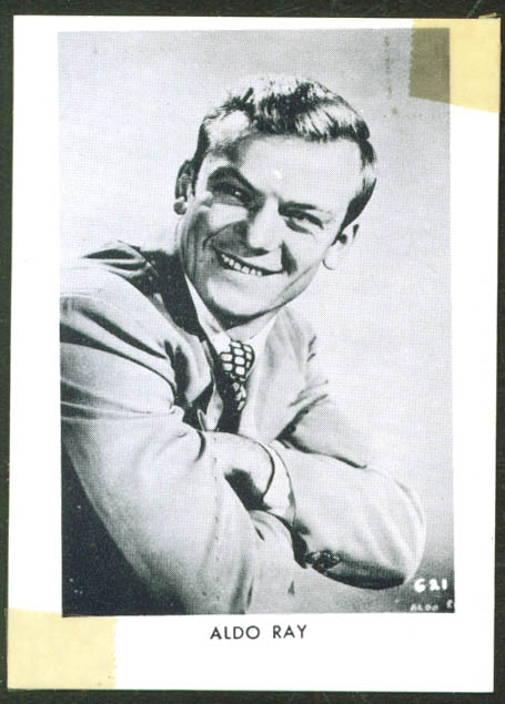 Actor Aldo Ray wallet-size fan club pic 1950s