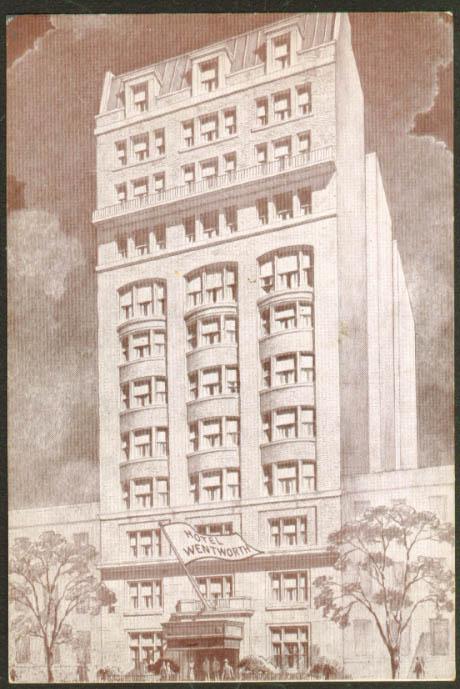 Hotel Wentworth 59 W 46th New York City NY postcard 1940s