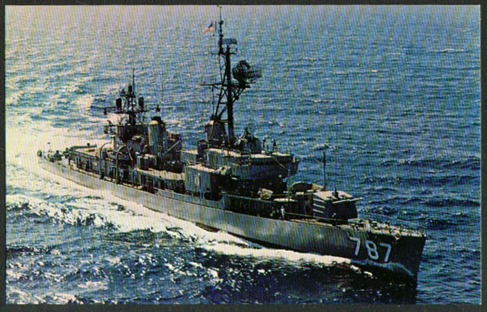 U S S James E Kyes Destroyer DD-787 postcard