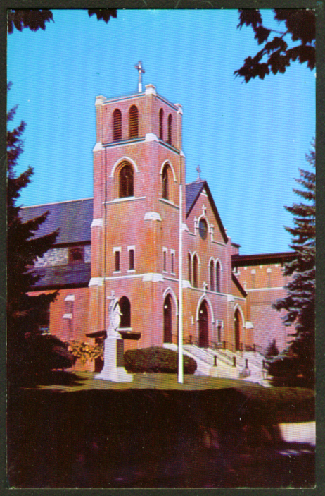 All Hallow's R C Church Moosup CT postcard 1950s