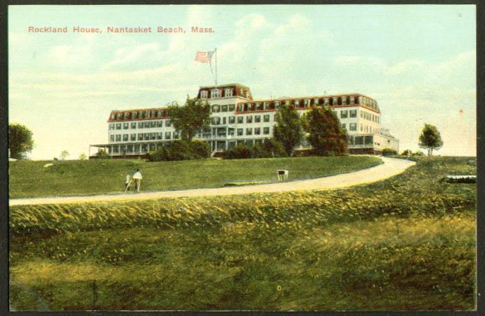 Rockland House Nantasket Beach MA postcard 1910s