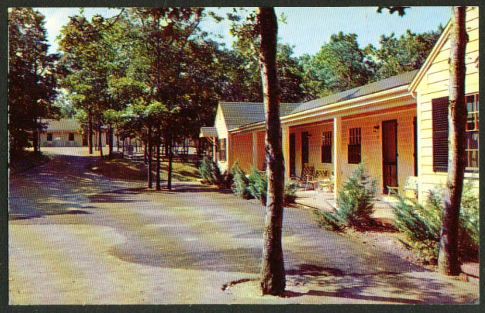 Shady Nook Motel Rt 6A Sandwich MA postcard 1958
