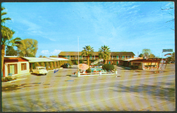 El Rancho Inn 4332 Grand Av Glendale AZ postcard 1966