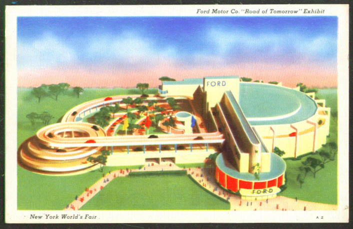 Ford Road Tomorrow New York World's Fair postcard 1939
