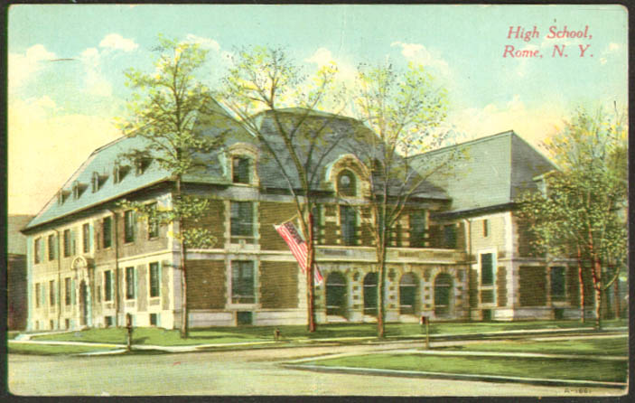 The High School at Rome NY postcard 1910s