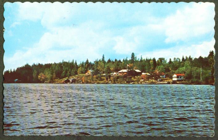 Dorval's Camp Kipawa Lake Laniel PQ postcard 1963