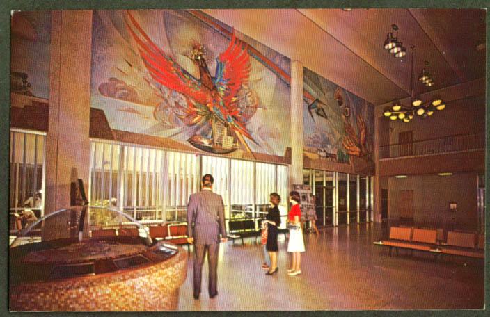 In terminal Sky Harbor Airport Phoenix AZ postcard 1960s