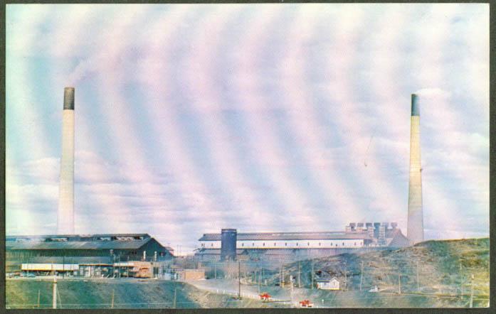 Coniston Smelter Sudbury ON postcard 1950s