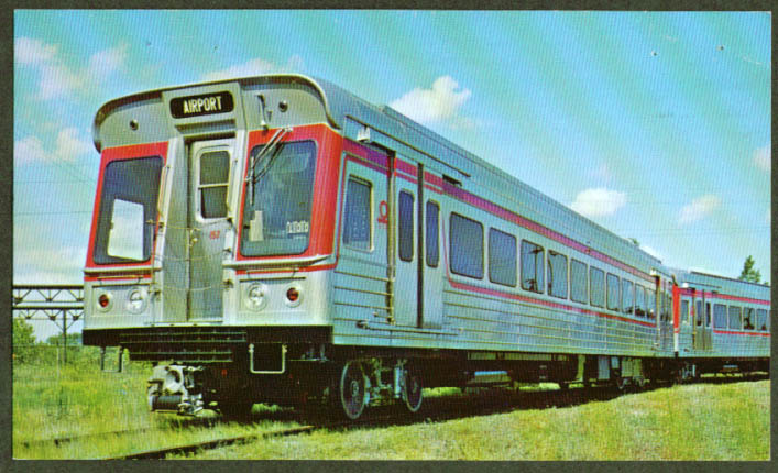 Cleveland Transit System Airporter postcard 1960s