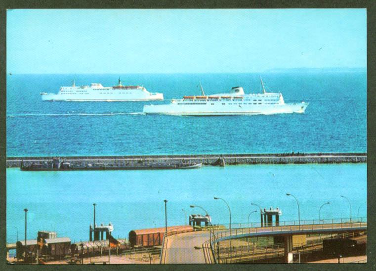 S S Skane S S Trelleborg Rigen Germany postcard 1973