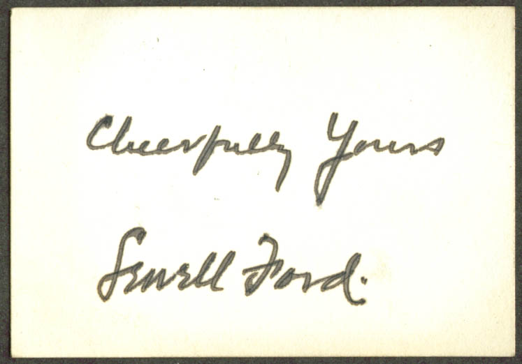 Author Sewell Ford autograph card 1920s