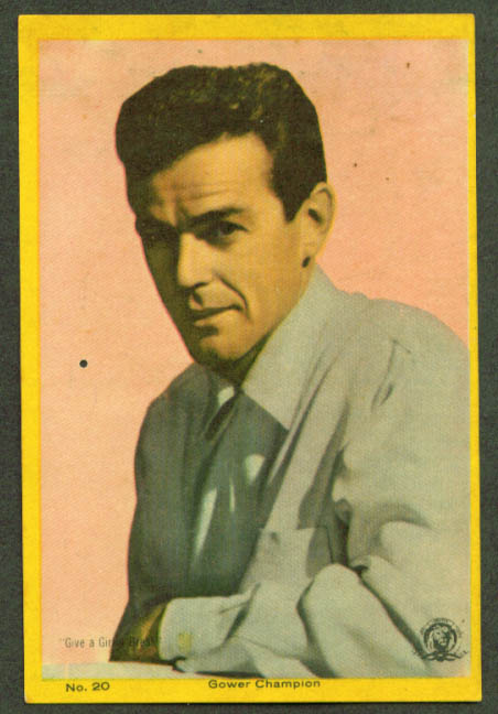 Actor Gower Champion 3x5 pic Argentina 1959