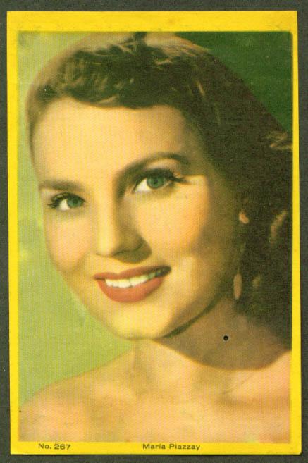 Spanish actress Maria Piazzai 3x5 pic Argentina 1959