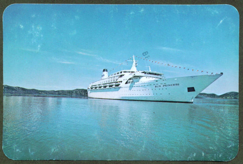Princess Cruises S S Sun Princess postcard 1977