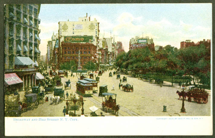Cremo Knox Hats 23rd & Broadway New York City NY undivided back postcard 1900s