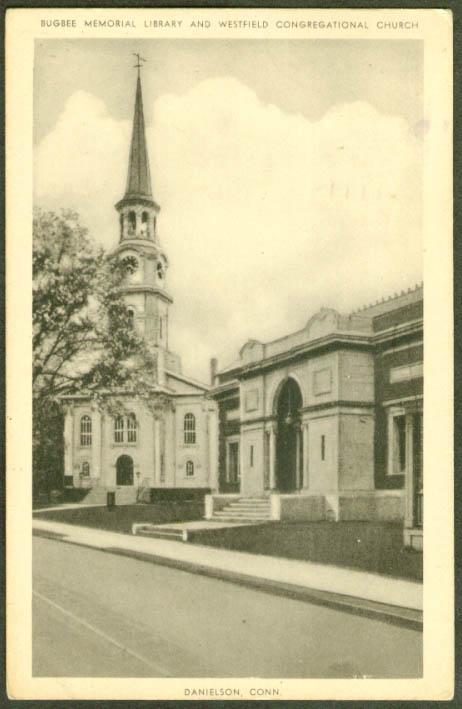 Westfield Congregational Danielson CT postcard 1952