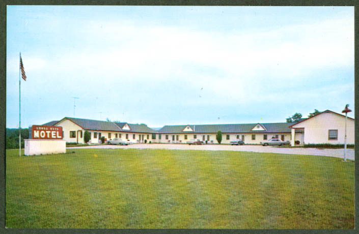 Cross Keys Motel New Oxford PA postcard 1960s