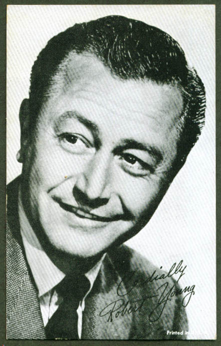 Actor Robert Young arcade card 1950s