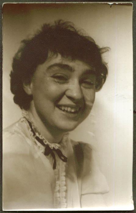 Smiling woman portrait Jose Alemany RPPC 1940s