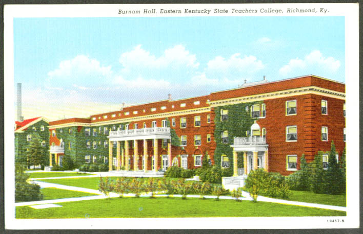 Eastern State Teachers College Richmond KY postcard 1940s