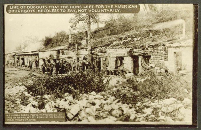 Abandoned Hun dugouts World War I RPPC 1918