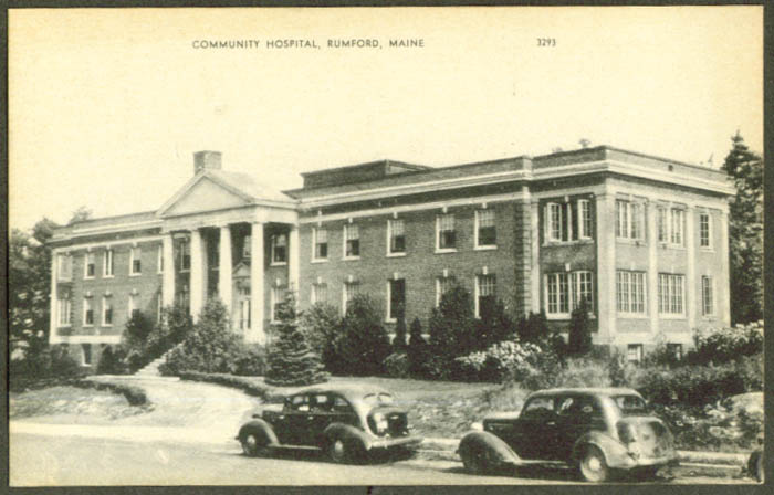 Community Hospital Rumford ME postcard 1930s