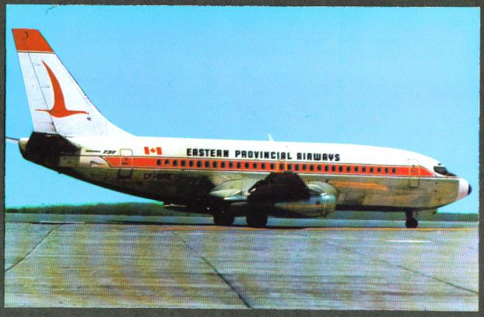 Eastern Provincial Airways Boing 737 Gander postcard
